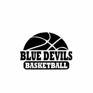 Blue Devils Basketball svg, Blue Devils svg, Spirit school svg, cutting file, svg, dxf, eps, Cricut Design Space, Cameo Silhouette Studio