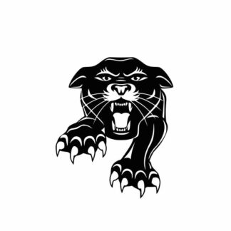 Panther mascot svg, panther mascot vector, panther face svg, Mascot svg, College SVG File Cutting, DXF, EPS design, cutting files for Silhouette Studio and Cricut Design space