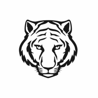 Tiger head svg, Tiger football svg, Tiger mascot svg, College SVG File Cutting, DXF, EPS design, cutting files for Silhouette Studio and Cricut Design space