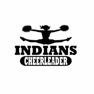 Indians Cheerleader svg, Cheerleader svg, Cheer svg, Cheer Images cut file include one zip file with Svg, Dxf, Eps, Jpeg Files