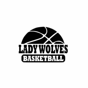 Lady Wolves Basketball svg, Wolves svg, Wolves svg cricut, cricut, cutting file, svg, dxf, eps, Cricut Design Space, Cameo Silhouette Studio