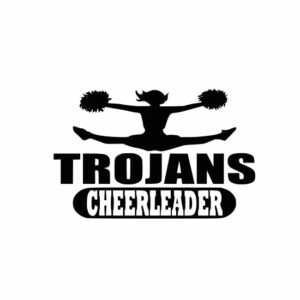Trojans Cheerleader svg, Cheerleader svg, Cheer svg, Cheer Images cut file include one zip file with Svg, Dxf, Eps, Jpeg Files