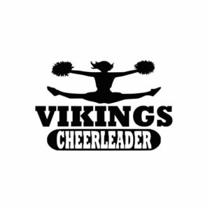 Vikings Cheerleader svg, Cheerleader svg, Cheer svg, Cheer Images cut file include one zip file with Svg, Dxf, Eps, Jpeg Files