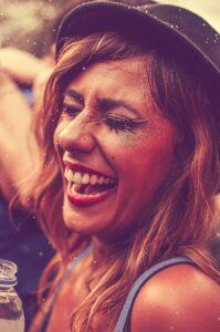 Festival Girl Laughing
