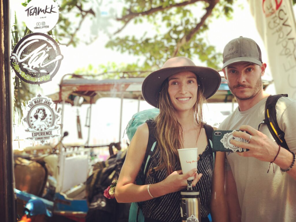 Strawberry and Casey on Gili Air, INdonesia