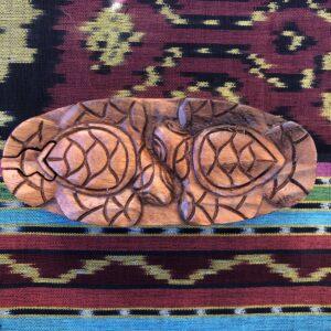Beautiful Teak Puzzle Stash Box – Two Turtles