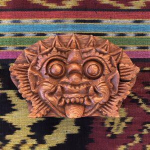 Beautiful Teak Puzzle Stash Box – Barong Mask