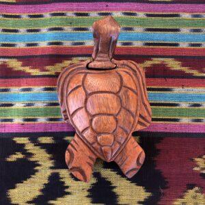 Beautiful Teak Puzzle Stash Box – Sea Turtle