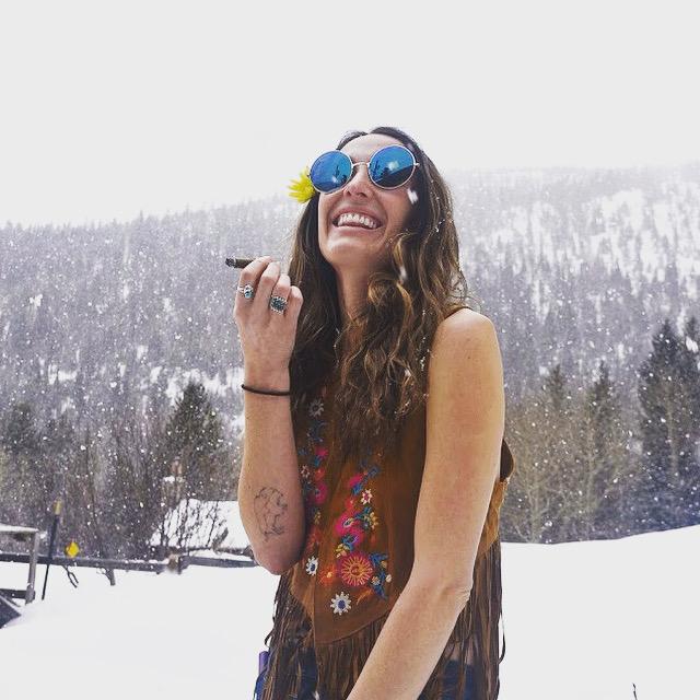 Smoking Hippie Chick