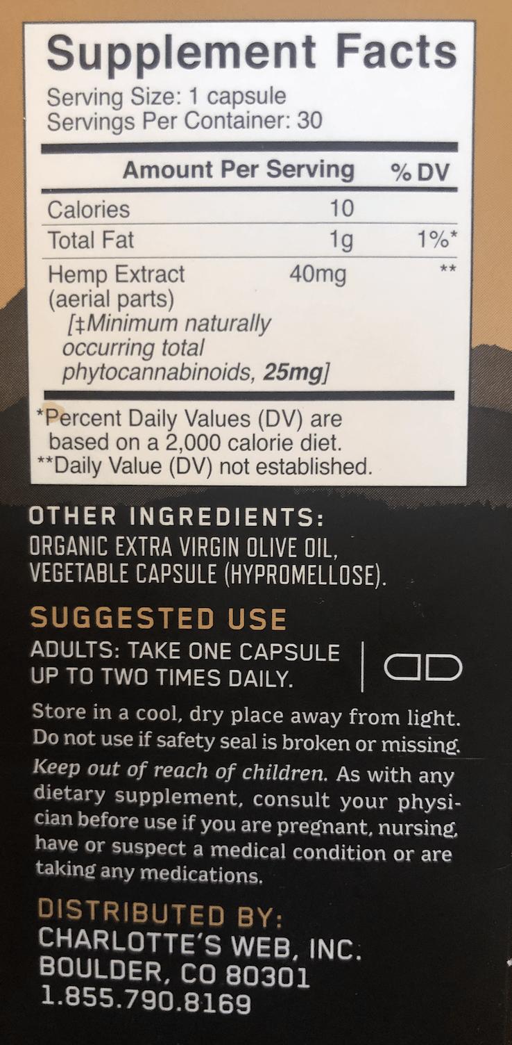 CW Capsule Ingredients