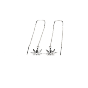 Sterling Silver Sativa Leaf Classic Earrings – Threader