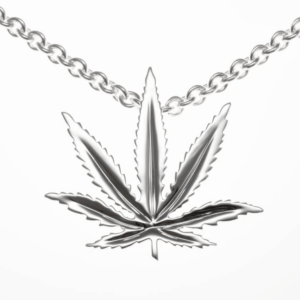 Sterling Silver Sativa Leaf Classic Pendant