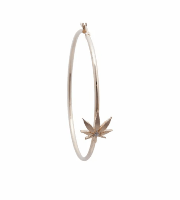 Luxury Cannabis Hoop Earrings