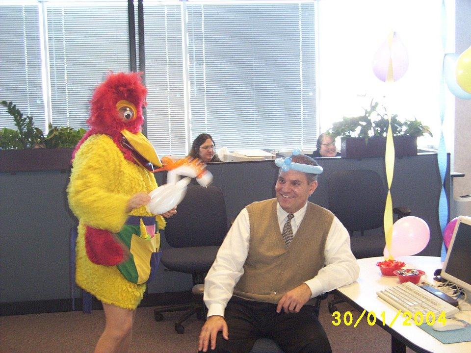 {Chicago Singing Telegrams} Chicken Singing Telegram $125.  Call (847) 256-9474