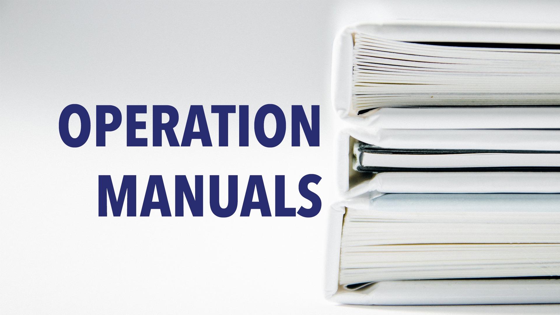 operation manuals