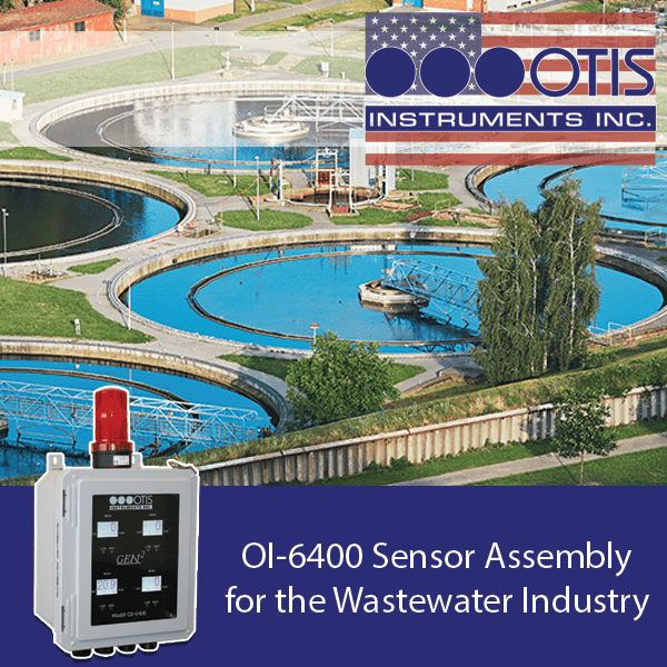 OI-6400 Sensor Assembly for the Wastewater Industry - Otis Instruments
