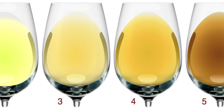 Oxidation of Wine by color