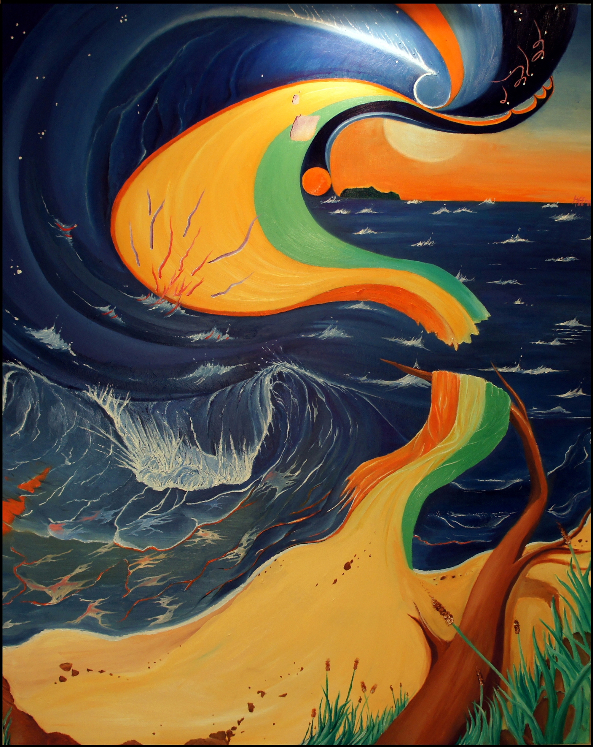 """Little Beach"" Painting"
