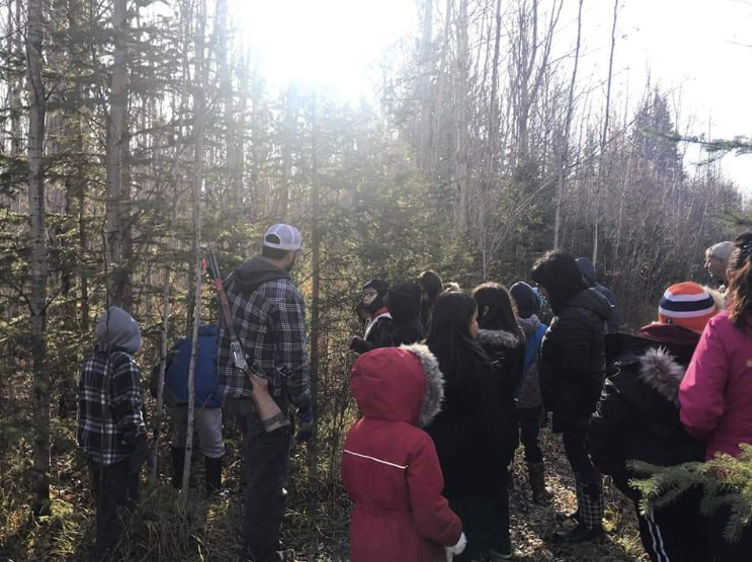 Grade 3 and 4 nature walk with information session