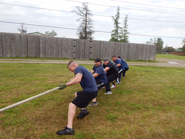 The second of two Sheriff's Offices teams which took part. including Capt. Adrian Chalona and deputies James Harper, Justin Topey, Trey Parks, Robert Mire and Richard Scheuermann.