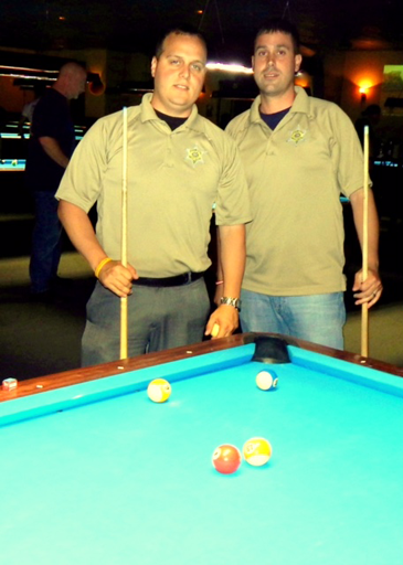 St. Bernard team members from left Det. Ryan Melerine and Det. Matt Arcement.