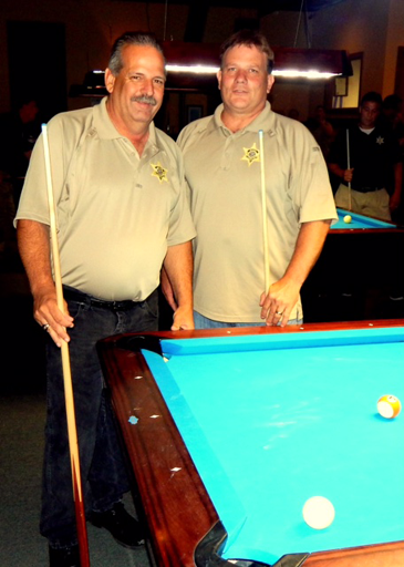 St. Bernard Sheriff's Office team members from left Det. Capt. Mark Jackson and Det. Maj.Robert McNab.