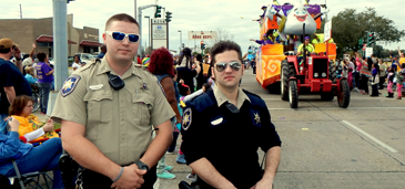 Dep. Sheriff Kyle Brown and Cpl. Keith Hood working the Nemesis parade route.