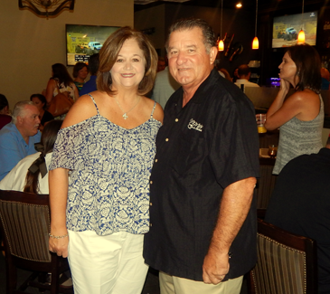 Rae Ann and Chuck Williams, owners of Me Me's Bar and Grille, during the fundraiser in their restaurant and bar.
