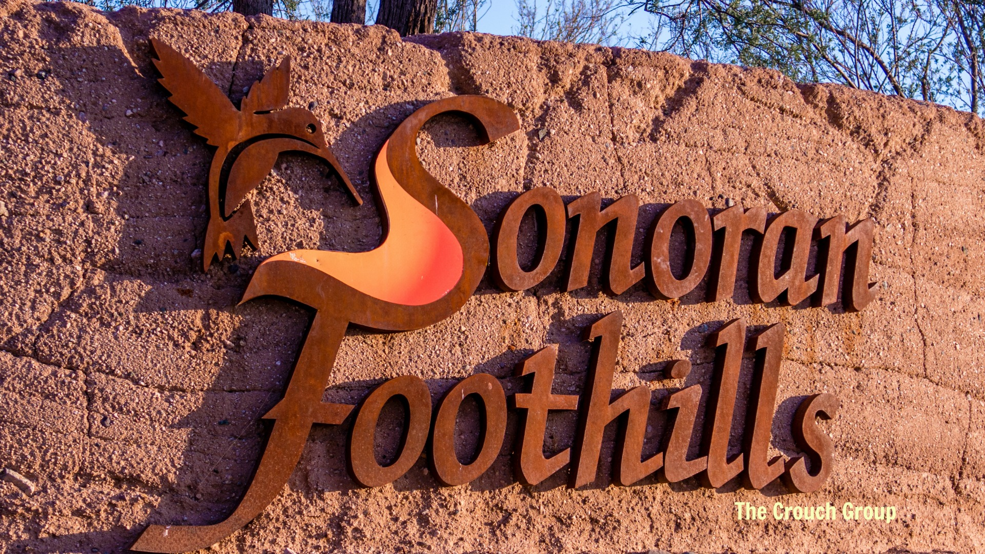 Sonoran Foothills sign for homes