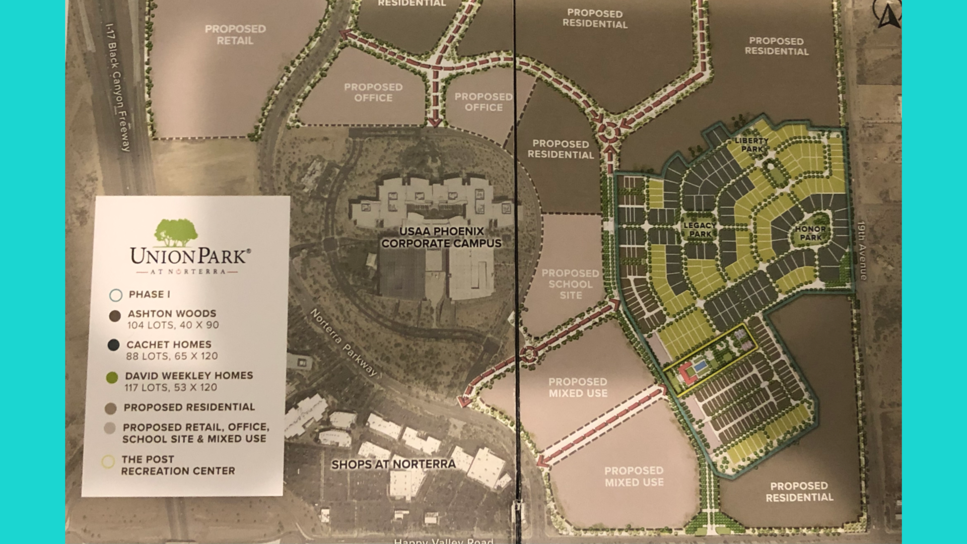 Master Plan for Union Park Norterra home sale
