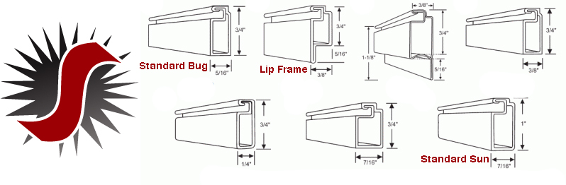 Window screen frames
