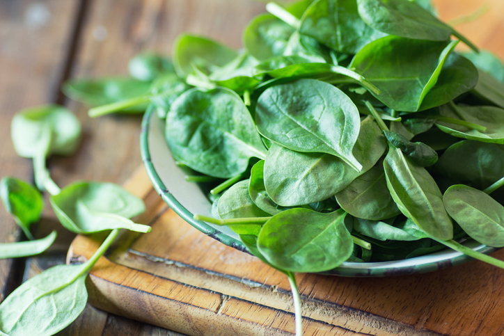 spinach plate