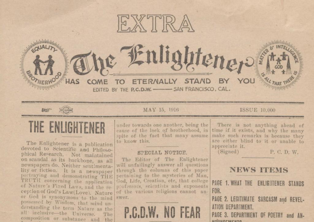 The Enlightener masthead