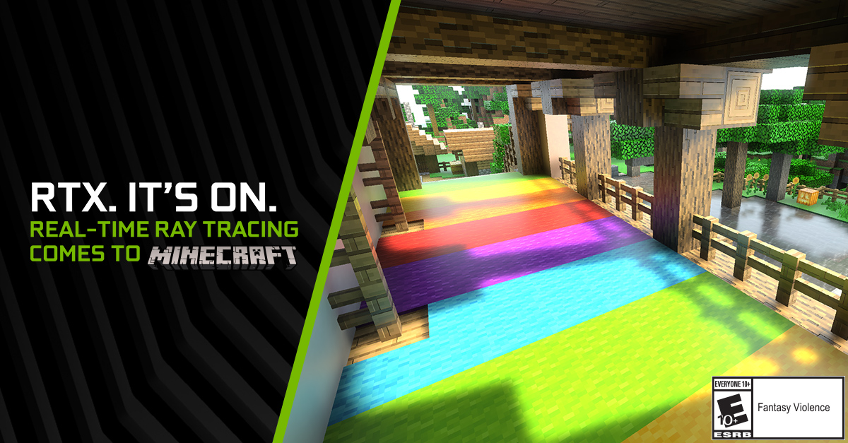 Minecraft with RTX | Official GeForce RTX Ray Tracing with HD Textures Reveal Trailer