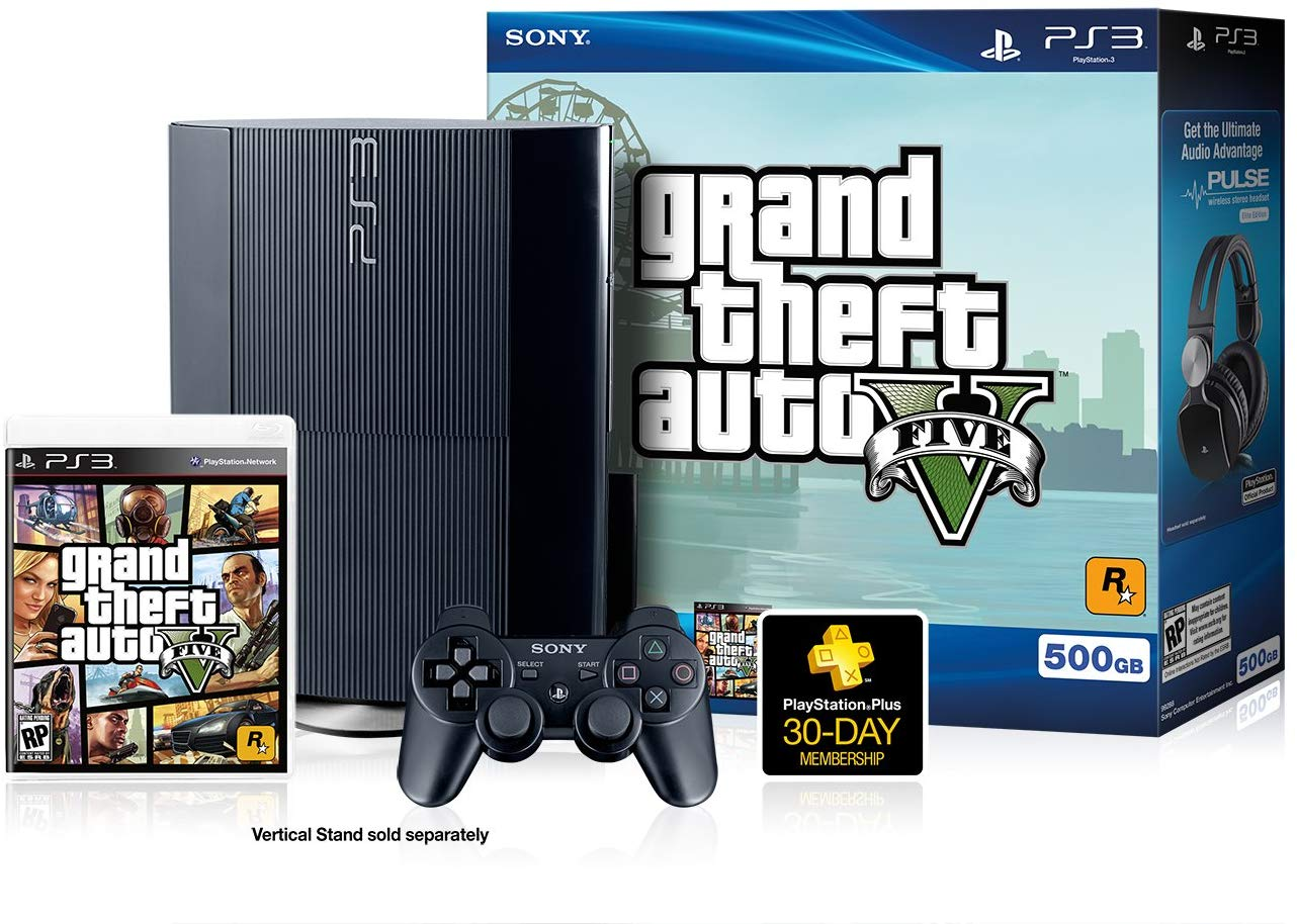 "PS3 ""GRAND THEFT AUTO V"" UNBOXING! PlayStation 3 Super Slim GTA 5 Console"