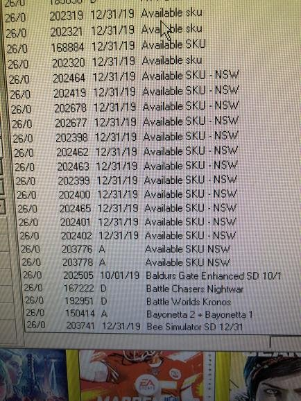 GameStop has added 14+ Nintendo Switch SKUs to their internal system
