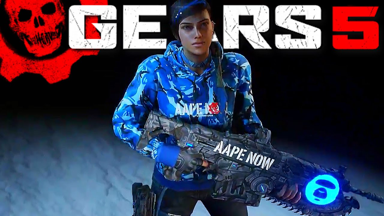 GEARS 5 News – AAPE Blue Camo Kait Character Skin, AAPE NOW Customization Pack & How to get it!