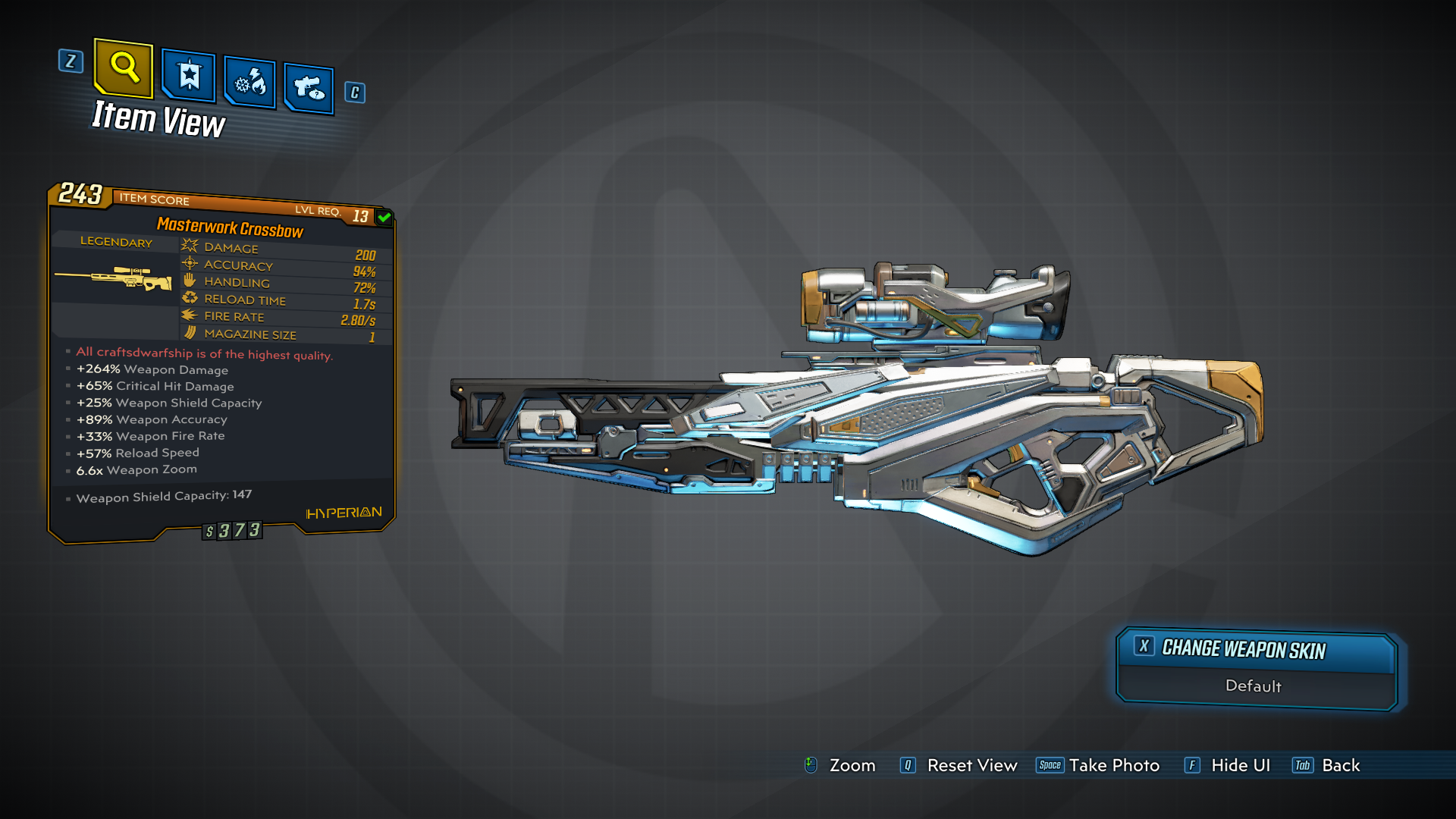 Borderlands 3   Masterwork Crossbow Legendary Weapon Guide (One In The Chamber!)