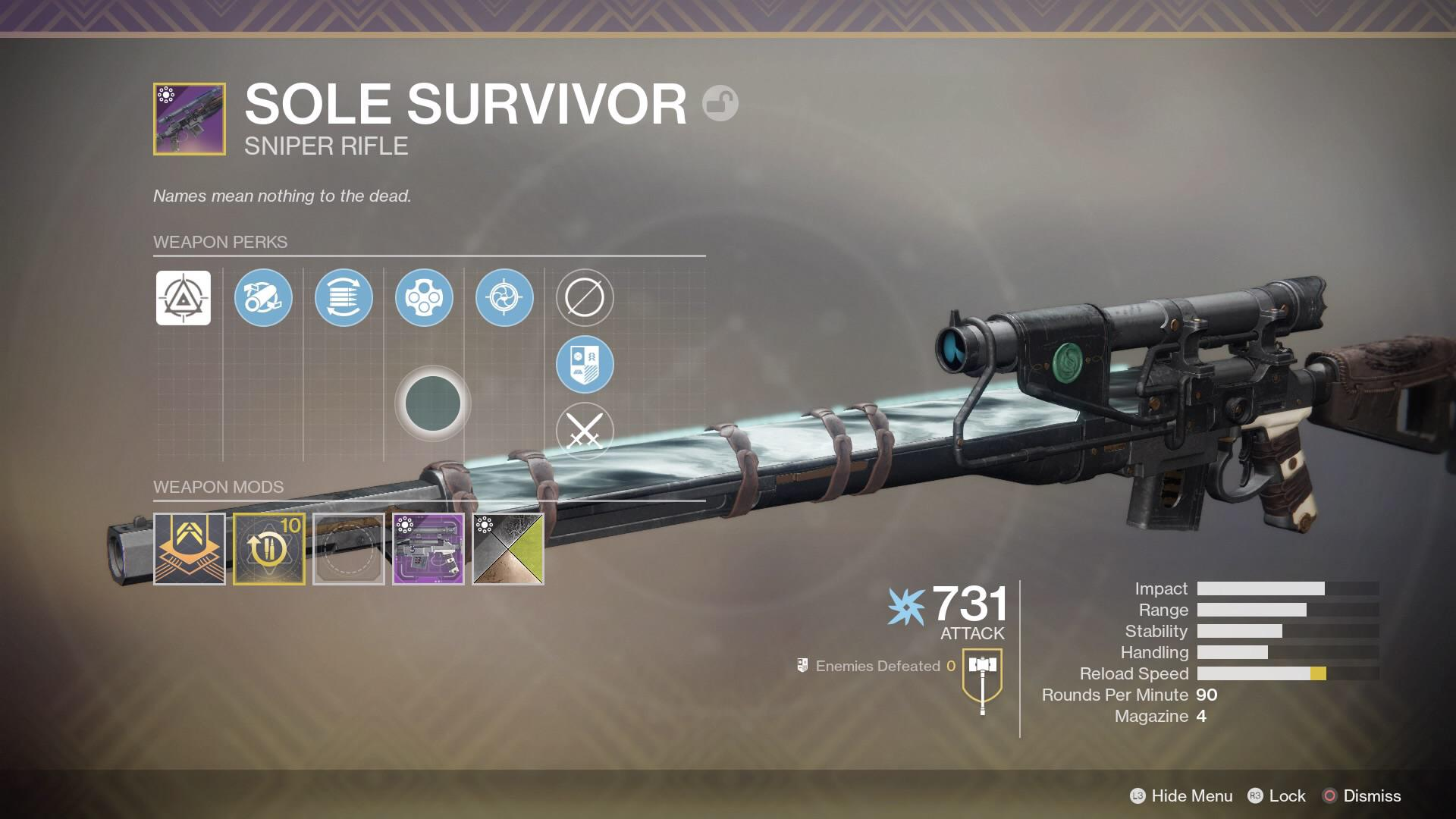 The Best PvE Legendary Sniper – God Roll Sole Survivor WILL BE META