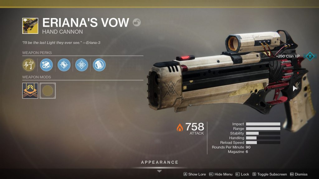 Eriana's Vow Exotic Is INSANE! The Hand Cannon Sniper (Destiny 2: Shadowkeep)