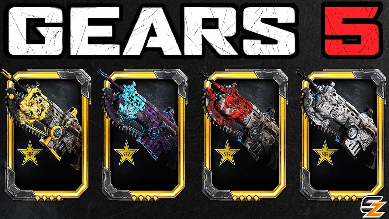 GEARS 5 Customization – Exclusive Rockstar Weapon Skins, Banners & How to get them in Gears 5!