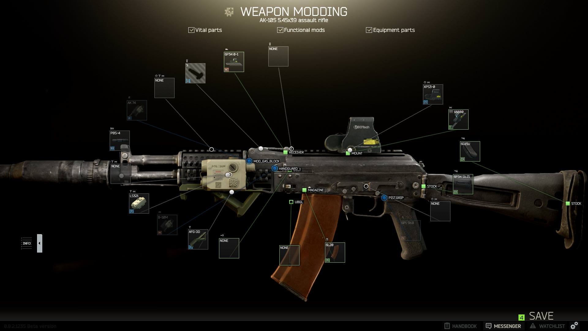 Escape from Tarkov Low Recoil AK build budget mid tier high end