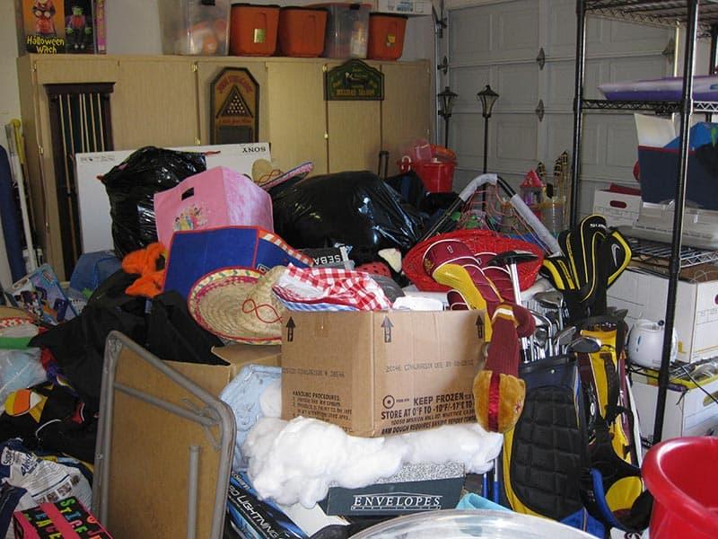 Unorganized Garage - Before