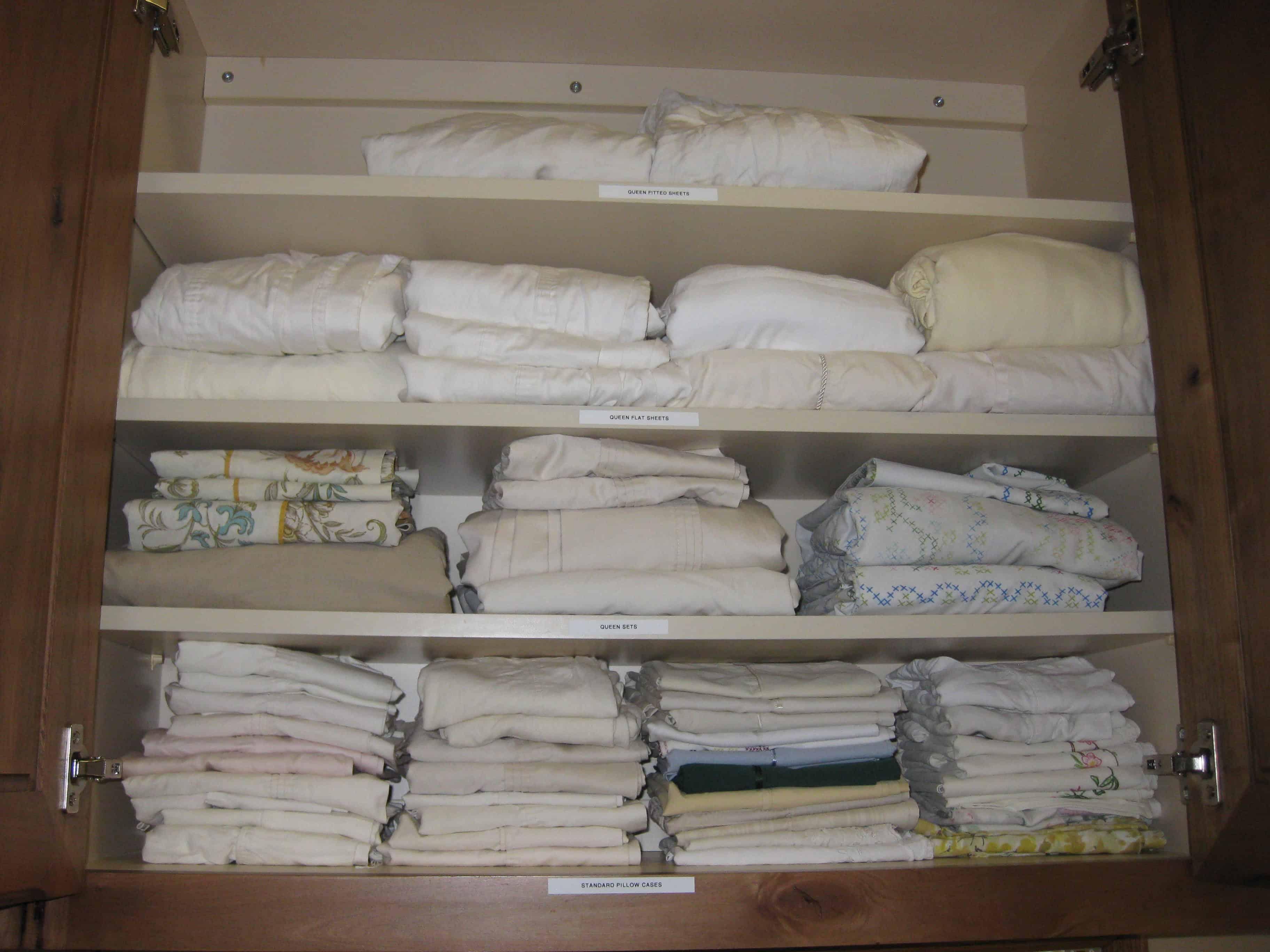 Organized Linen Closet - After