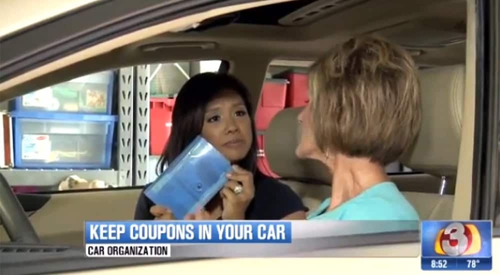 Coupon organizer for your car
