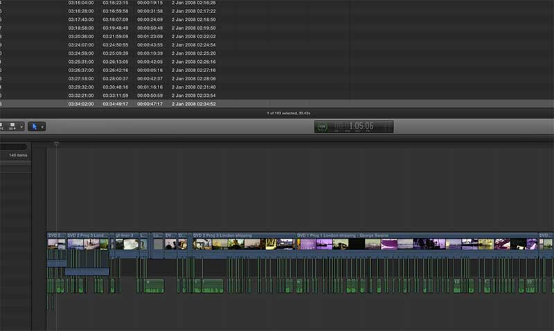 video editing cine film