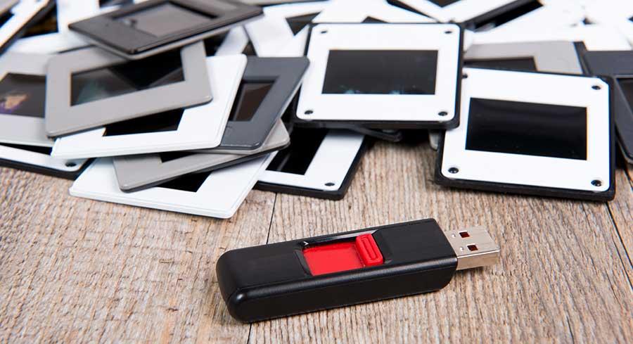 converting slides to digital