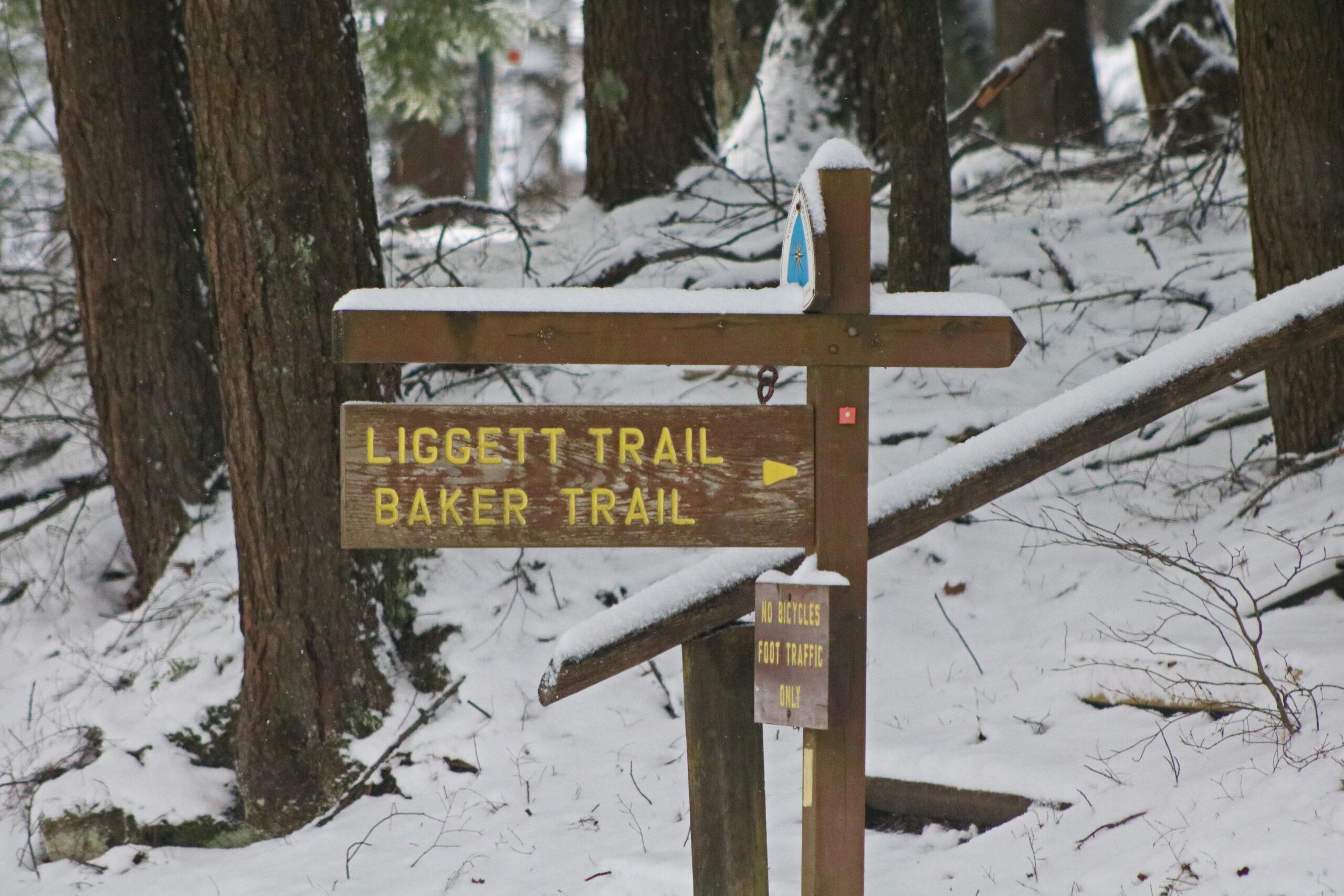 Liggett and Baker Trail Sign