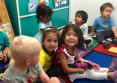 Making Friends at Caring Hearts Child Care in Sunnyvale