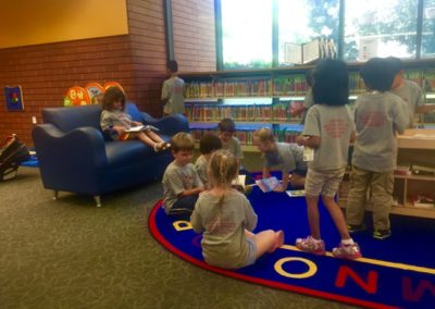 Reading Time at Caring Hearts Child Care in Sunnyvale